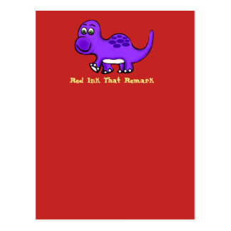 Dinosaur in the Red Postcard