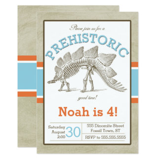 Dinosaur Invitation Dino Invite