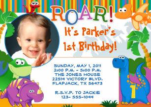 dinosaur birthday invitations announcements zazzle ca