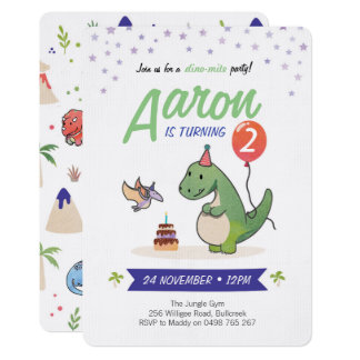 Dinosaur Invitations, Boys birthday invitations