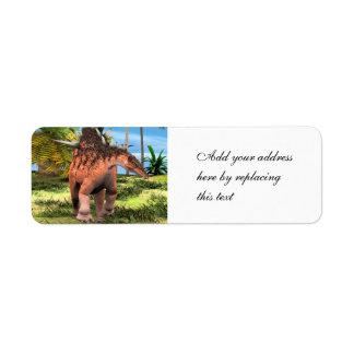 Dinosaur Kentrosaurus Return Address Label