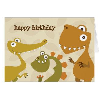 Dinosaur Land Birthday Greeting Card