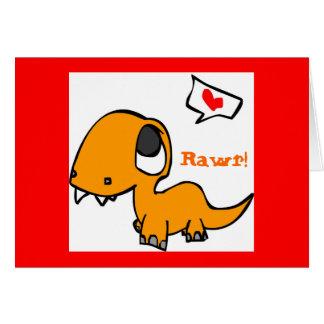 dinosaur love card
