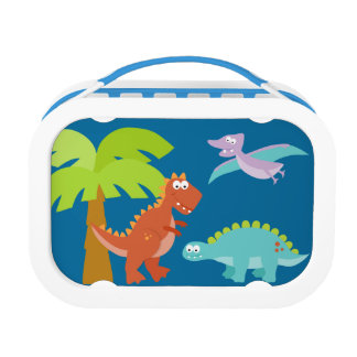 Dinosaur Lunch Box Personalized with Childs Name