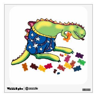 Dinosaur midnight snack wall sticker