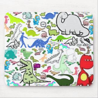 Dinosaur Montoge Mouse Pad