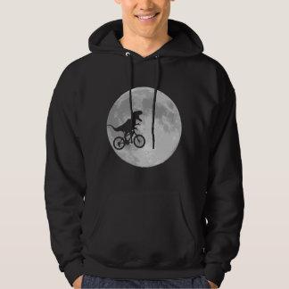 Dinosaur on a Bike In Sky With Moon Sweatshirt