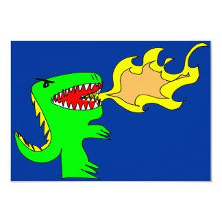 Dinosaur or Dragon Art by little t + Joseph Adams Card