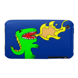 Dinosaur or Dragon Art by little t + Joseph Adams Case-Mate iPhone 3 Case