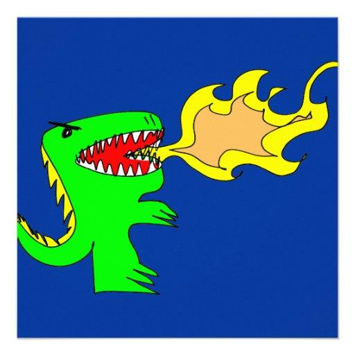 Dinosaur or Dragon Art by little t + Joseph Adams Personalized Invites