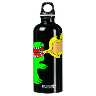 Dinosaur or Dragon Art by little t + Joseph Adams Water Bottle