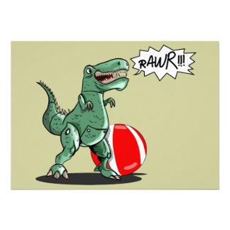 Dinosaur or Dragon Art by Luis Julián Torruellas Invite