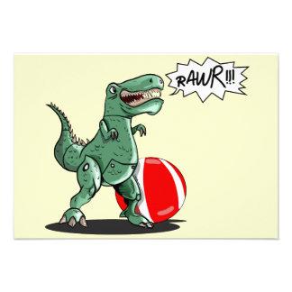 Dinosaur or Dragon Art by Luis Julián Torruellas Personalized Invite
