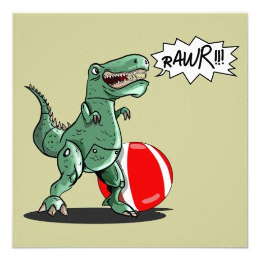 Dinosaur or Dragon Art by Luis Julián Torruellas Invitation