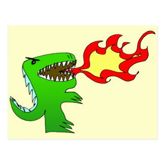 Dinosaur or Dragon by little t + Jessica Jimerson Postcard