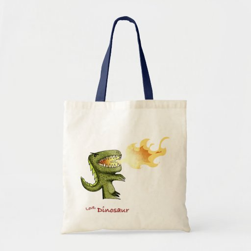 Dinosaur or Dragon kids art with Loston Wallace Tote Bag