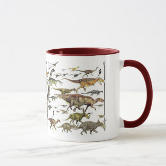 Dinosaur Pageant Mug Paleoart by Gregory Paul