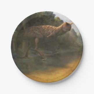 Dinosaur paper plate (Carnotaurus) 7 Inch Paper Plate