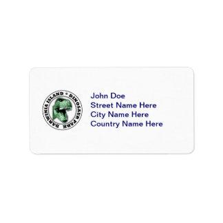 Dinosaur Park Address Label