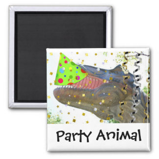 Dinosaur Party Animal Square Magnet