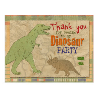 Dinosaur Party Thank You Postcard
