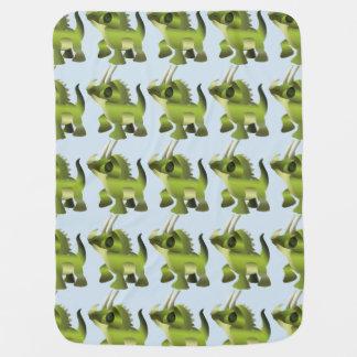 Dinosaur pattern baby blanket
