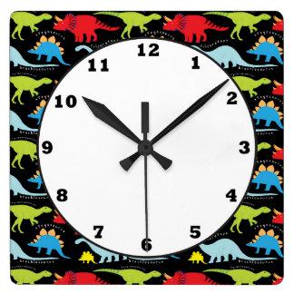 Dinosaur pattern prehistoric wall clock