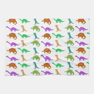 Dinosaur pattern towel
