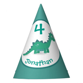 Dinosaur personalized birthday party hat
