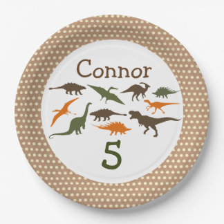 Dinosaur Plate, Personalized Paper Plate