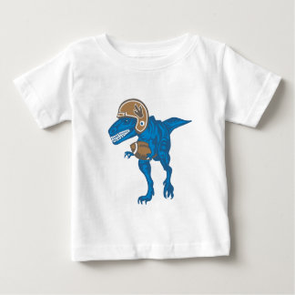 Dinosaur playing Football Baby T-Shirt