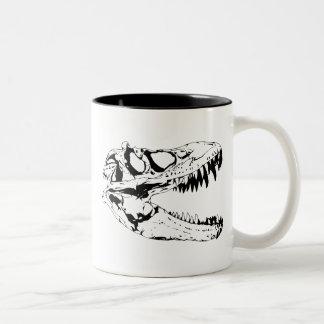 dinosaur print Two-Tone coffee mug