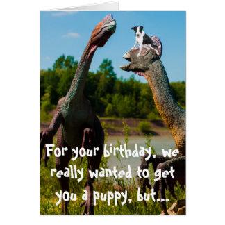 Dinosaur Puppy Humor Card