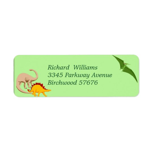 Dinosaur Return Address Label