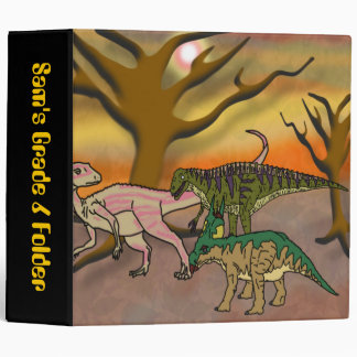 Dinosaur Romp 3 Ring Binders