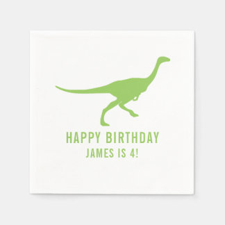 Dinosaur Silhouette Custom Birthday Party Napkin Disposable Napkins