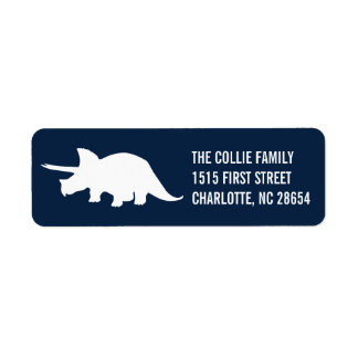 Dinosaur Silhouette Return Address Label