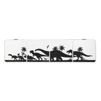 Dinosaur Silhouettes Beer Pong Table