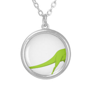 Dinosaur Silver Plated Necklace