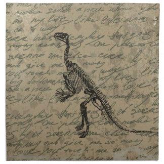 Dinosaur skeleton napkin