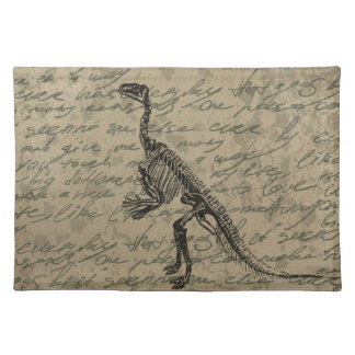 Dinosaur skeleton placemat