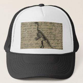 Dinosaur skeleton trucker hat