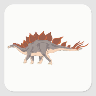 Dinosaur Square Sticker
