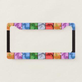 Dinosaur Squares Licence Plate Frame