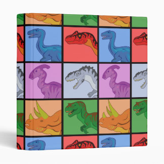 Dinosaur Squares Vinyl Binder