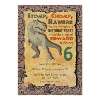 Dinosaur T-Rex Birthday Party Invitation
