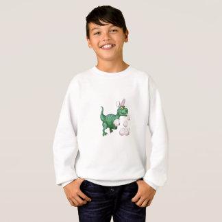 Dinosaur T-Rex Bunny Funny Easter Egg Sweatshirt