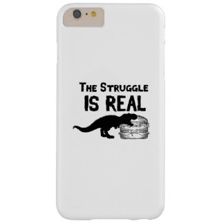 dinosaur T Rex The Struggl Is Real hamburger Funny Barely There iPhone 6 Plus Case