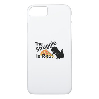 dinosaur T Rex The Struggl Is Real Pizza Funny iPhone 8/7 Case