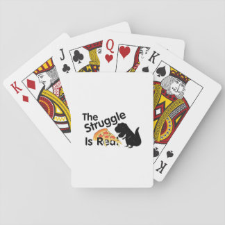 dinosaur T Rex The Struggl Is Real Pizza Funny Playing Cards
